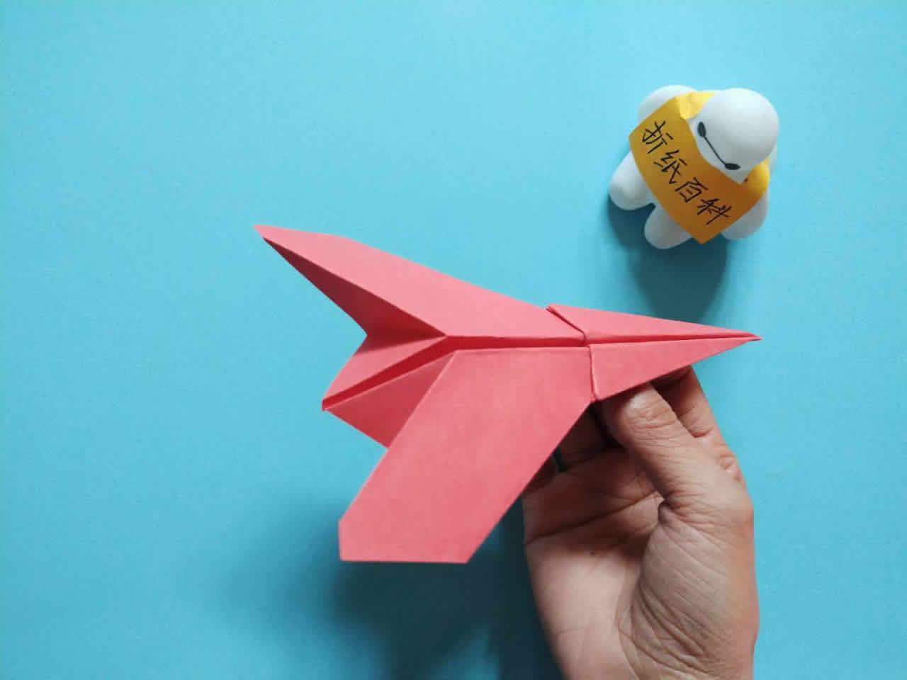 能飞得很远的折纸飞机,简单几步就做好,手工DIY折纸图解教程 家务妙招 第10张