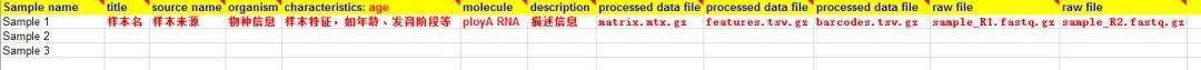 单细胞数据上传GEO操作指南