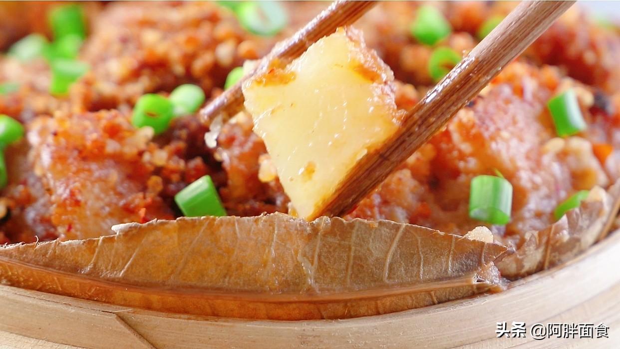 把五花肉放鍋中蒸一蒸,教會你,一層比一層好吃,年夜飯待客有面
