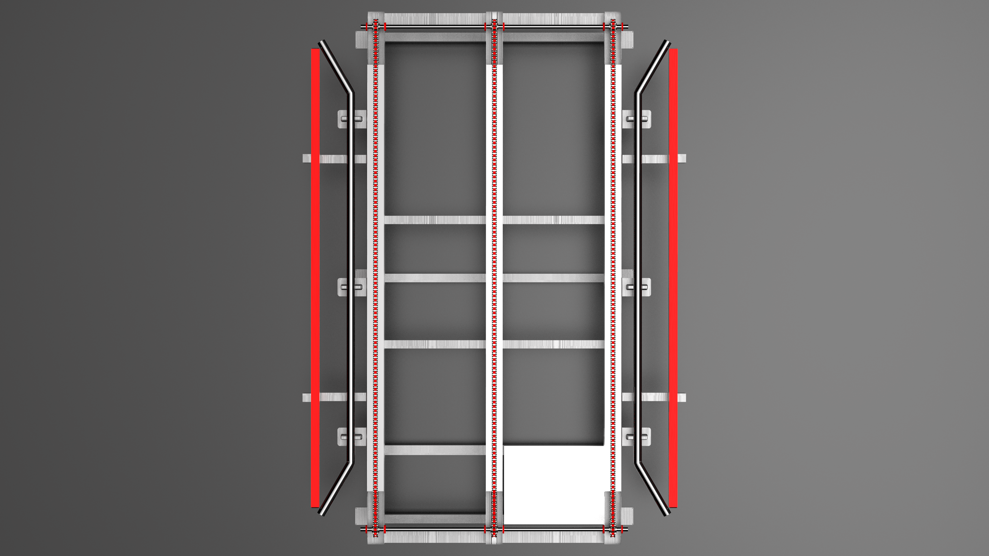 Conveyor Belt输送带链设备3D数模图纸 STP IGS格式