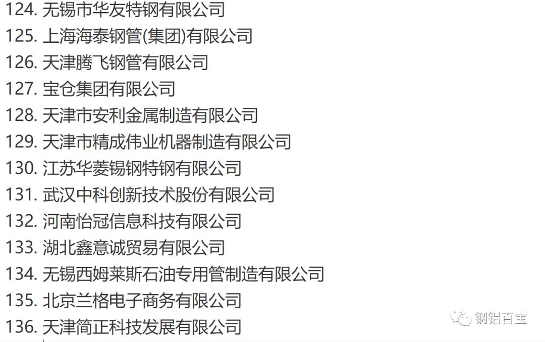 中国无缝钢管 焊管 不锈钢管 钢管厂家161家