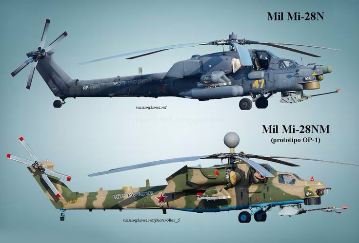 俄罗斯量产米-28NM武装直升机,携带智能武器,配备新型雷达