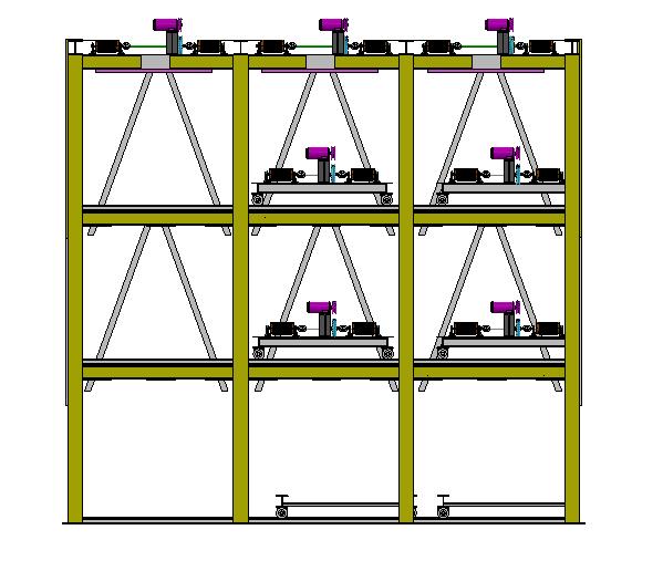 四层横移立体车库3D数模图纸 Solidworks设计
