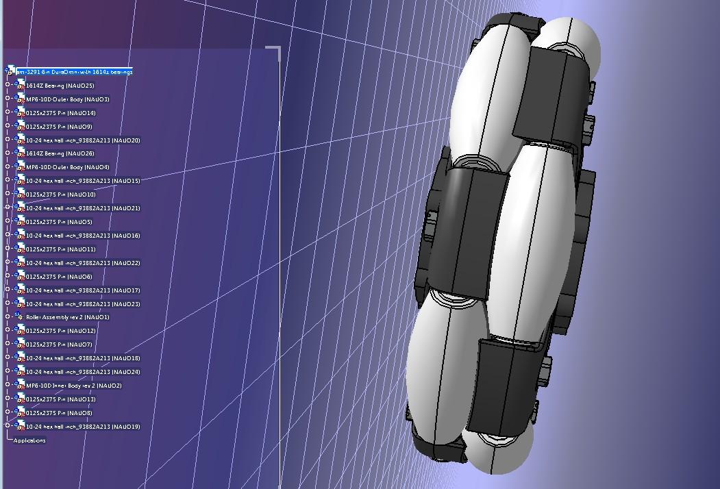 6英寸omniwheels全向轮模型3D图纸 STEP格式