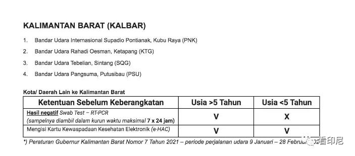 搭乘印尼内陆段飞机什么要求