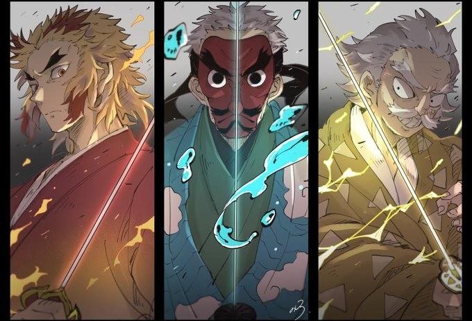 鬼滅被忽視的4位強者:前任水雷火三柱不可小視,他掌握日呼劍型