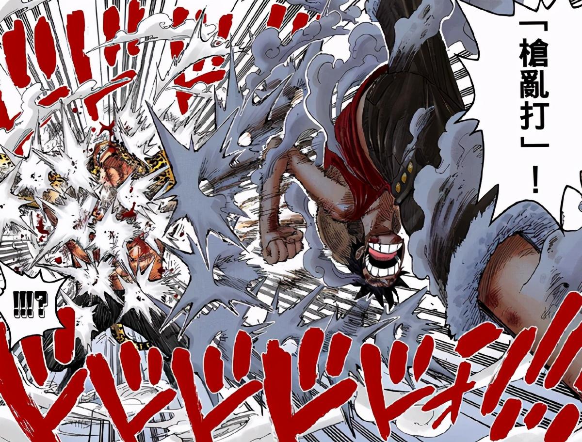 海賊王:路飛的「槍亂打」進化史,「猿王槍亂打」正在硬抗四皇