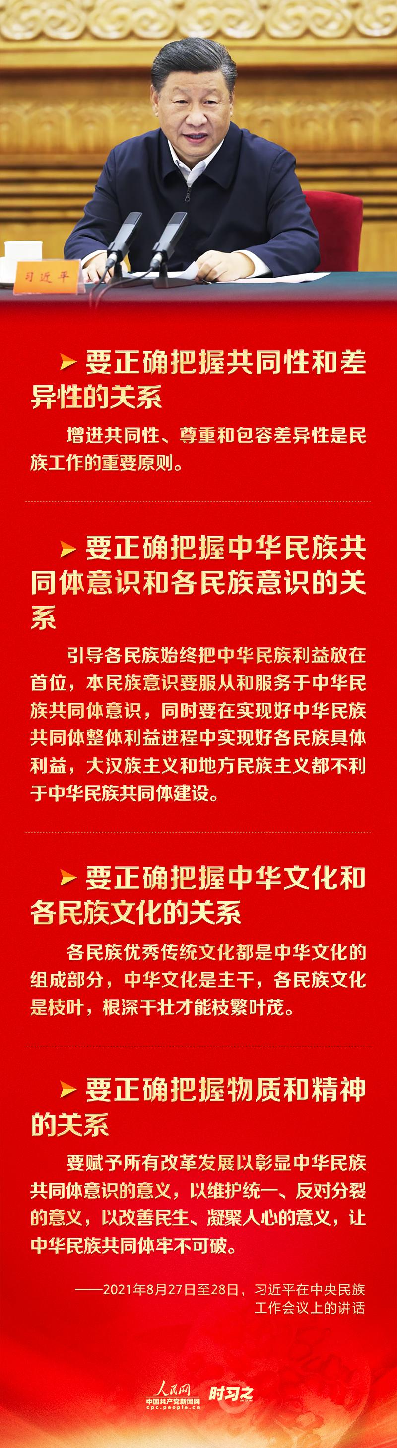 """创新发展党的民族工作 习近平指出要正确把握""""四个关系"""""""