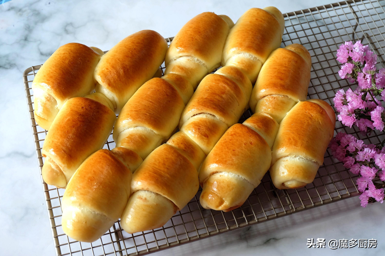全職媽媽在家烤麵包,配方自己改,低糖無油更健康,做法太簡單了
