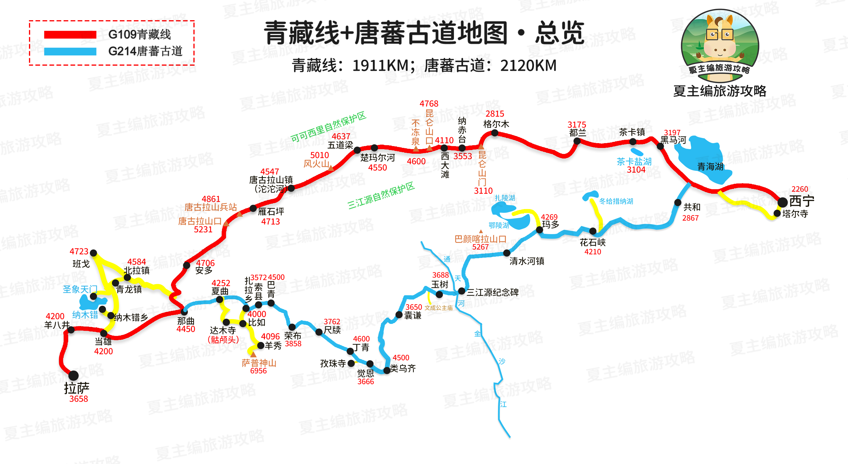 超高清地图,一图看懂川藏、青藏、新藏、滇藏线,不必再去查海拔