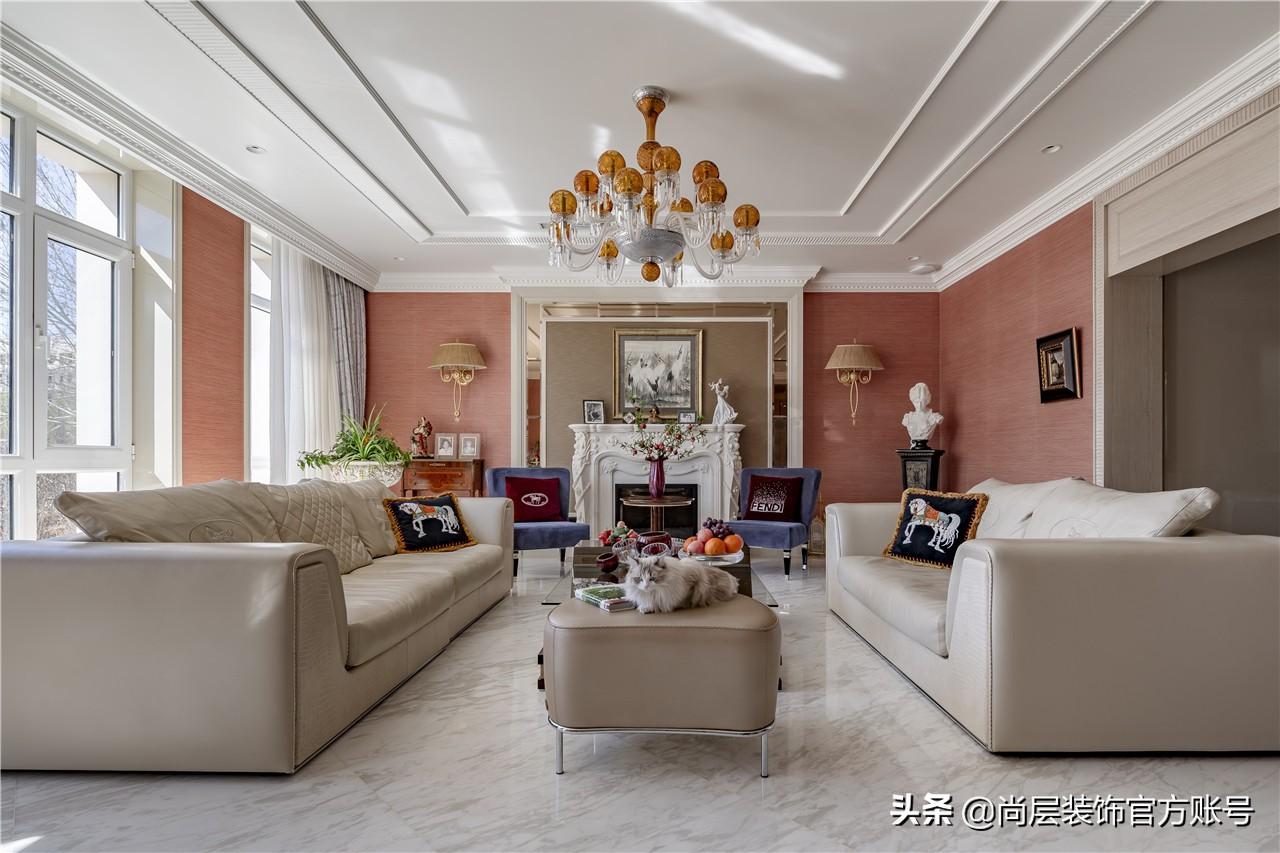 谁说别墅一定要豪装修?她家850㎡现代法式风,优雅迷人