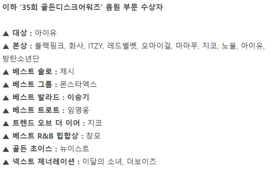 """IU李知恩""""意外""""获得金唱片音源大赏,完全体BTS登台亮相"""