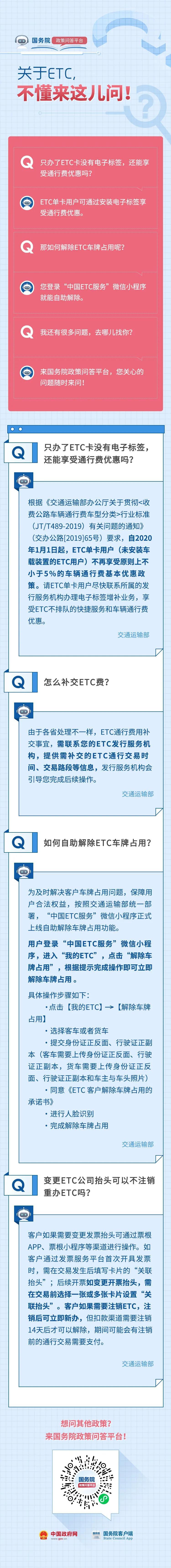 关于ETC的问题,答案都在这!