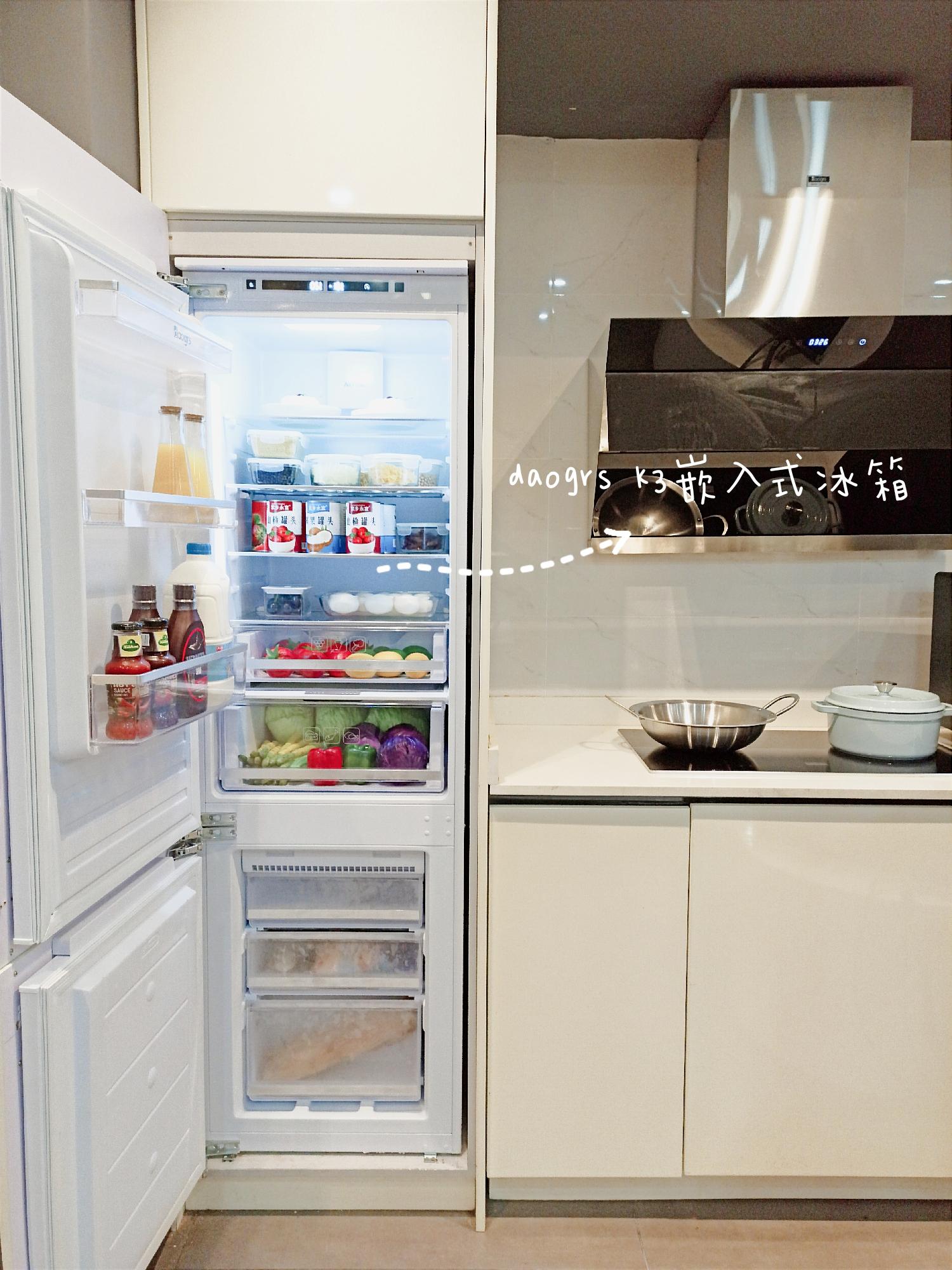 房子装修,小厨房变大的小秘密,冰箱嵌入式设计