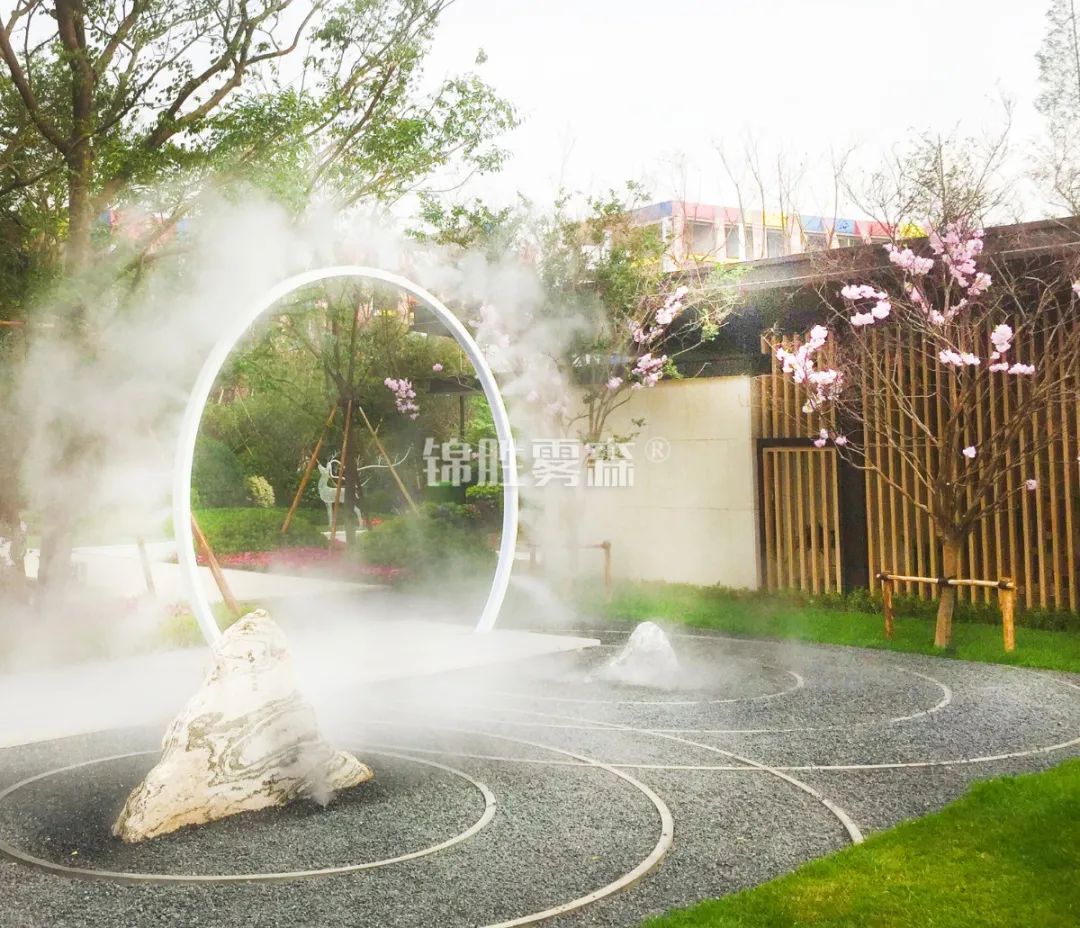 人造雾景观小品的设计,赋予艺术新生命——锦胜雾森