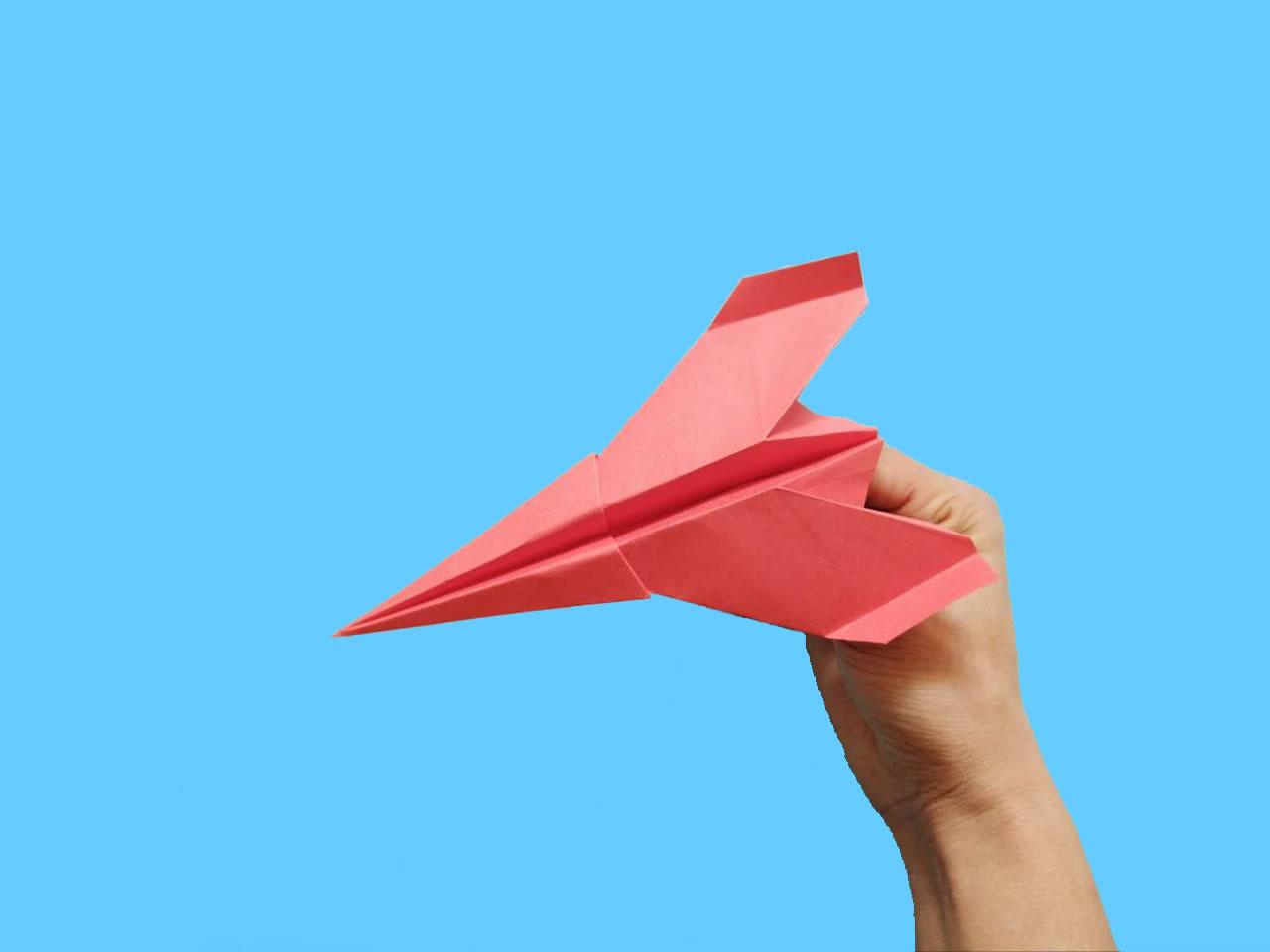 能飞得很远的折纸飞机,简单几步就做好,手工DIY折纸图解教程 家务妙招 第11张