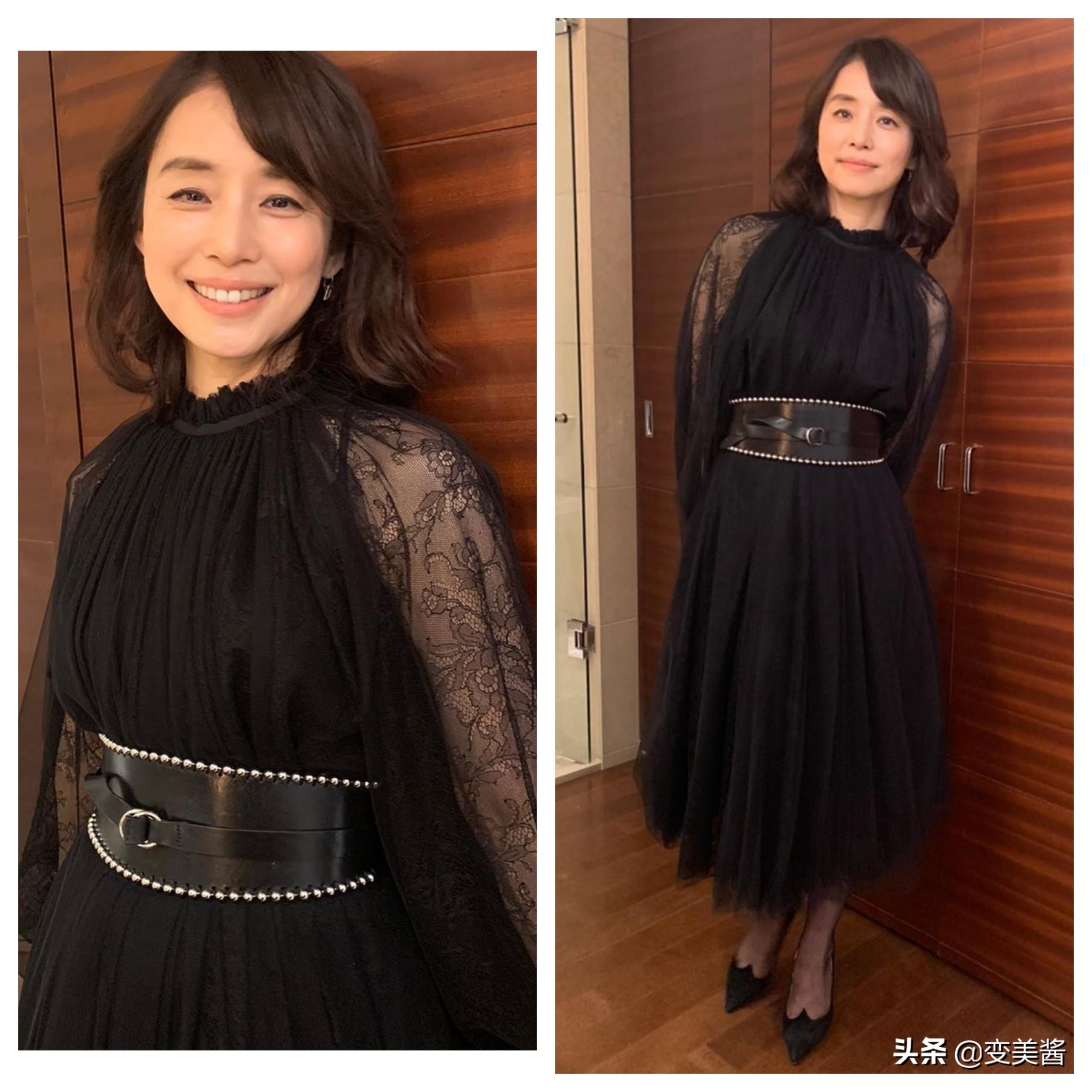 51岁的石田百合子真会穿!日常穿搭知性又优雅,不愧为冻龄女神