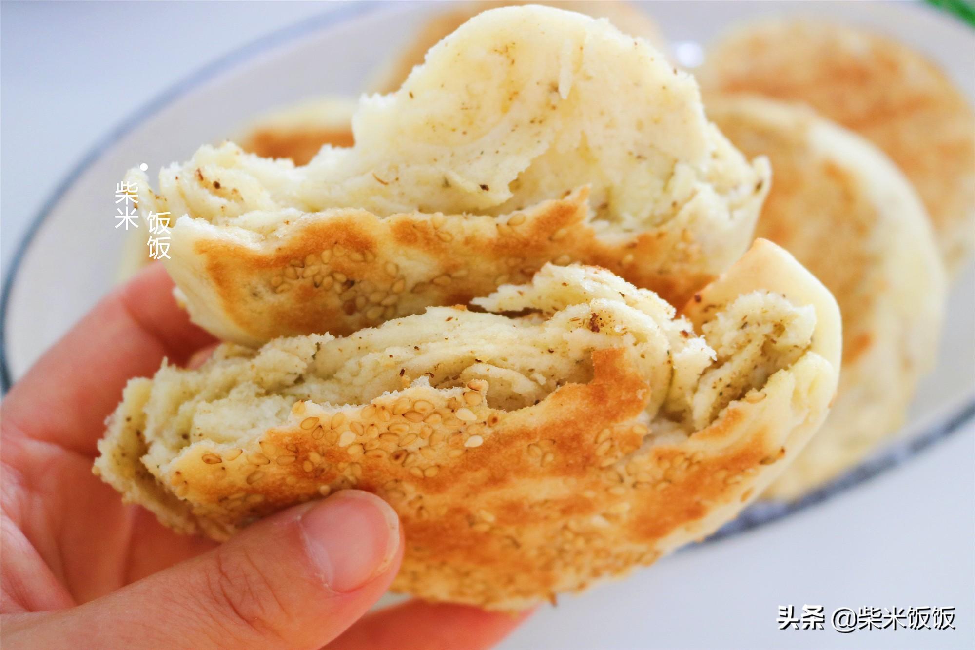 燒餅這樣做太好吃了,外酥裡軟,一層更比一層香,做法簡單
