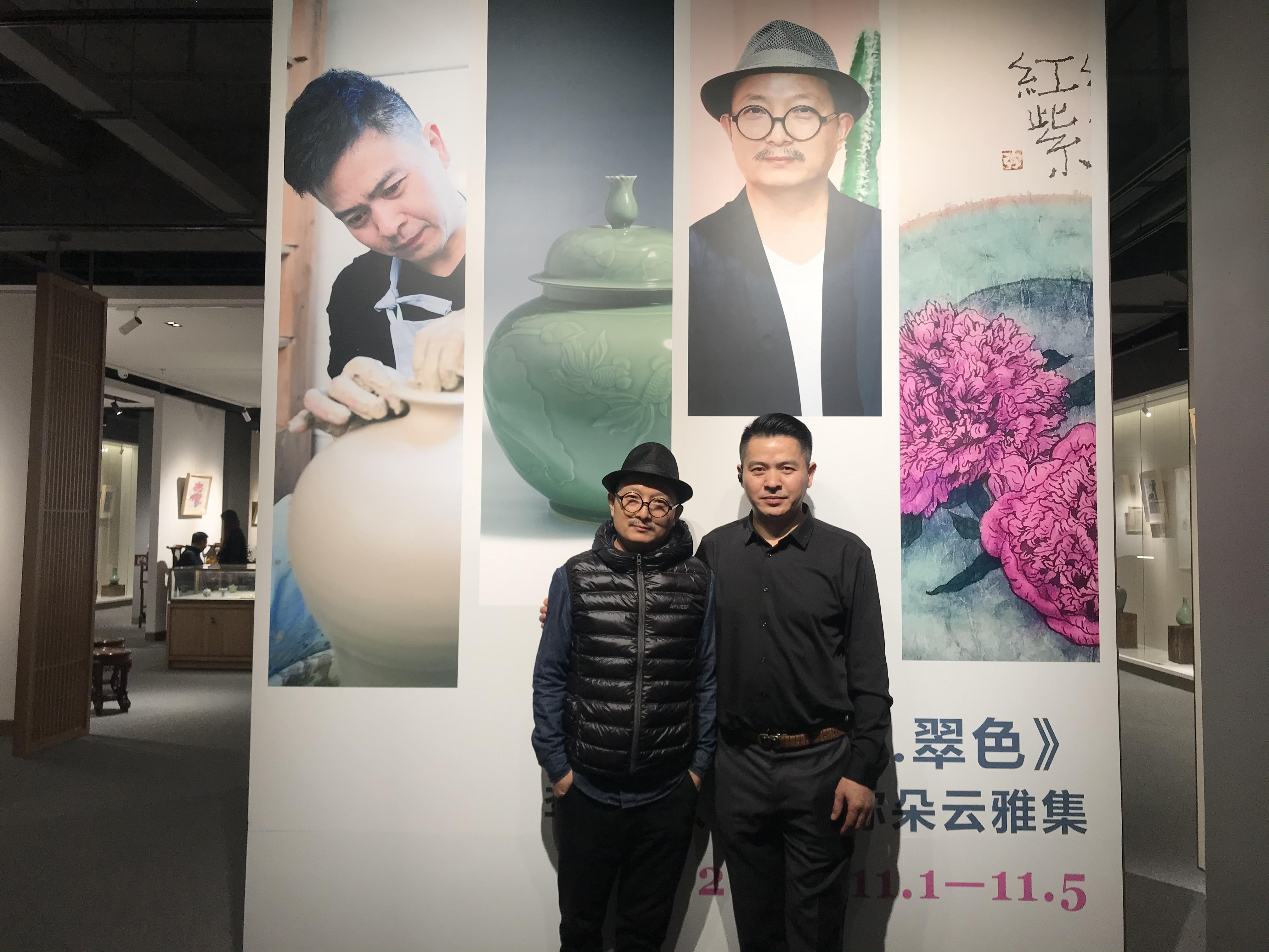 艺术从来都是独一无二的,《窑火・翠色》展在上海朵云轩开幕