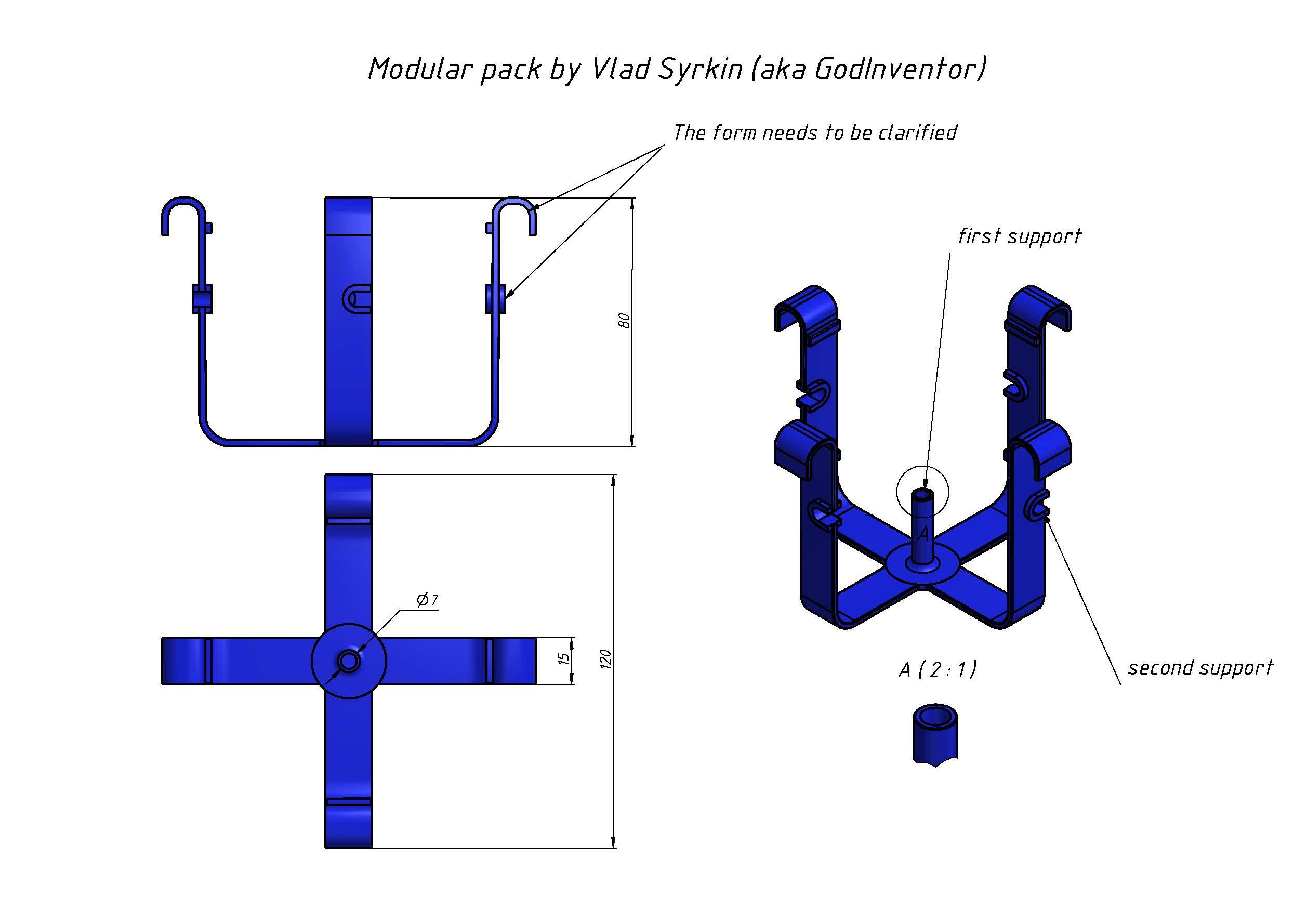 modular pack模块化包装结构3D图纸 INVENTOR设计 附IGS