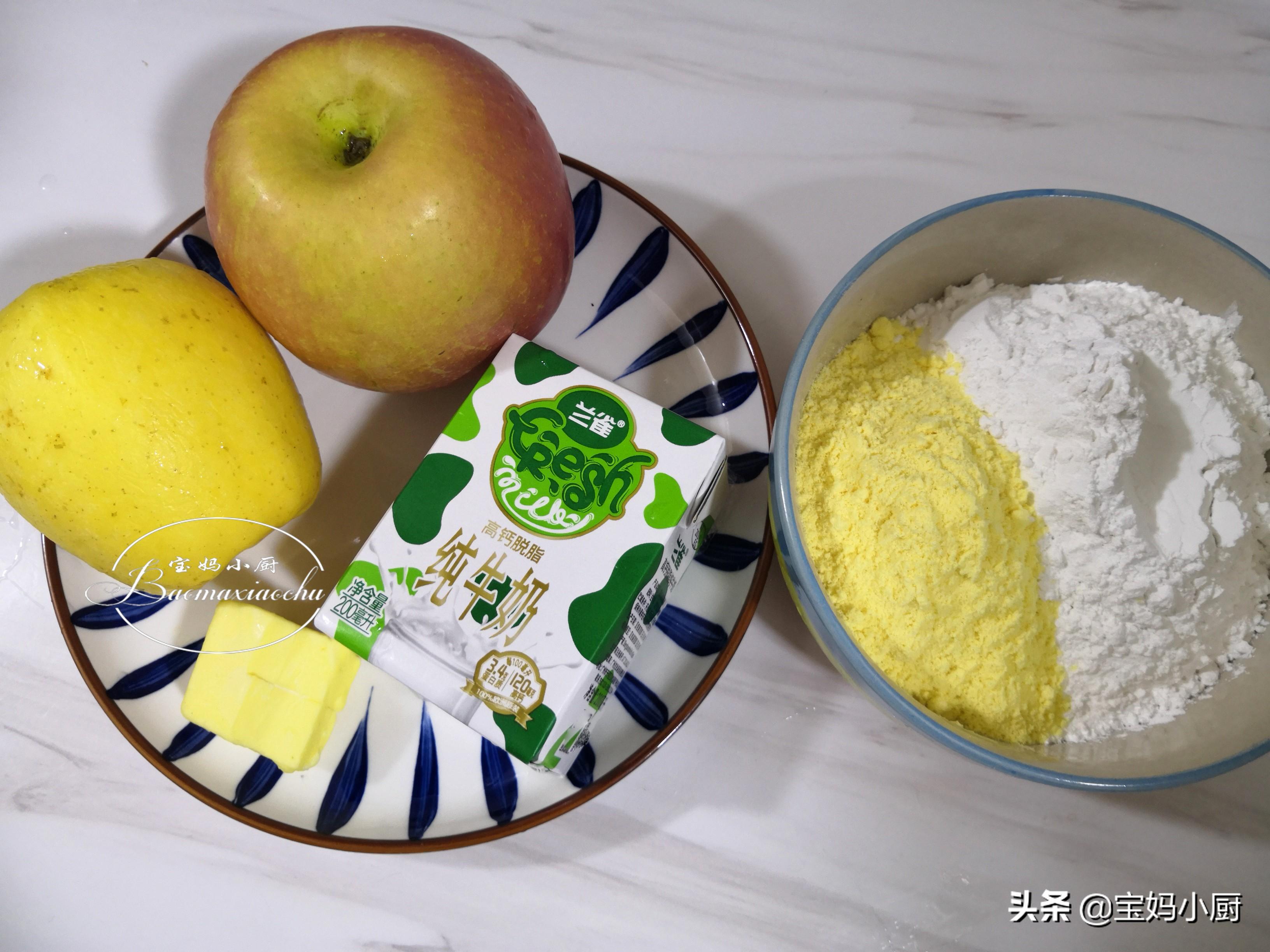 用牛奶和蘋果做餅,當早餐太讚了,大人孩子喜歡,網友:聰明做法