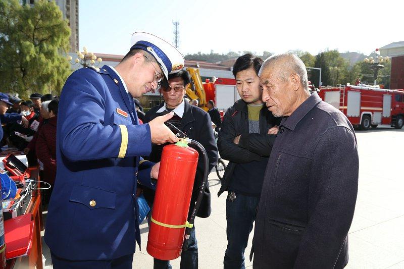 甘肃崇信县启动119消防宣传月