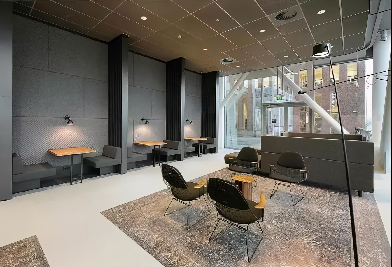 办公室,也可以装修得这么柔和、平静、和谐