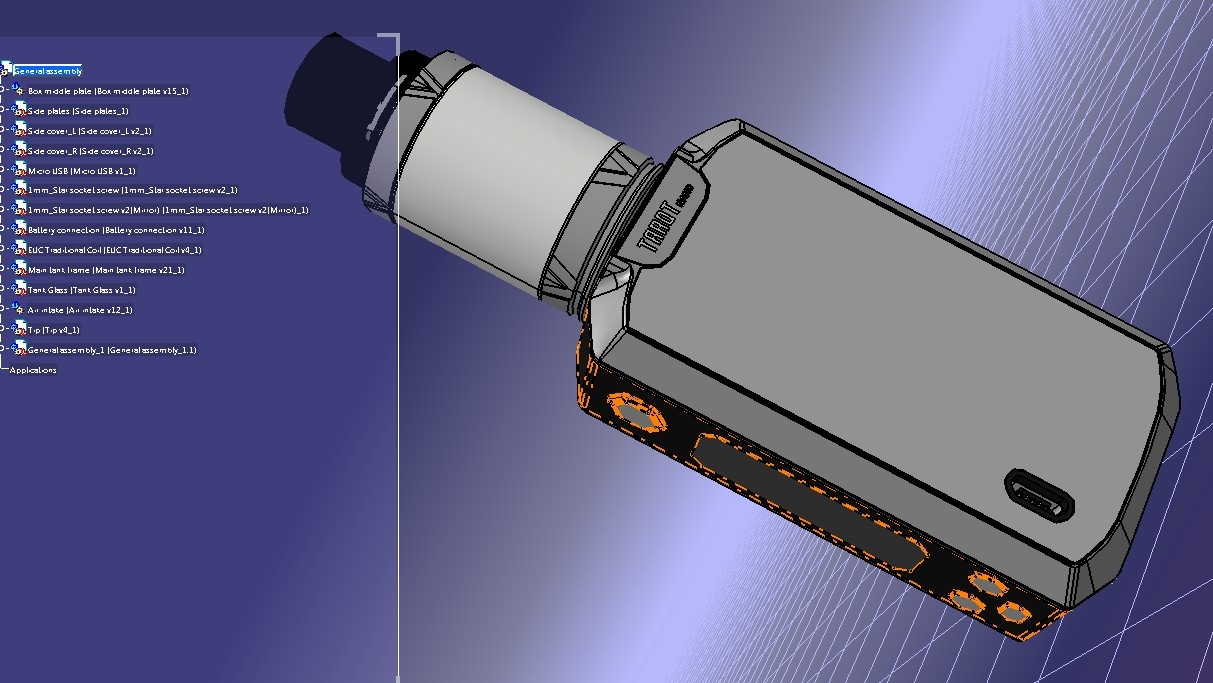 Tarot Nano Kit电子烟模型3D图纸 STEP格式