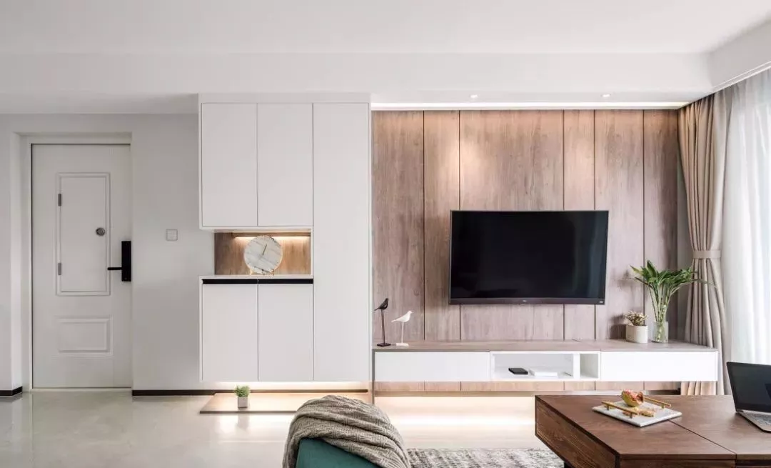 小户型客厅的电视背景墙设计,这样弄好看又实用