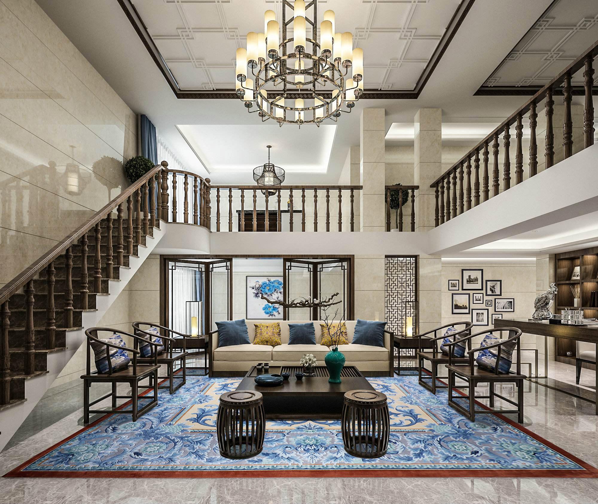 别墅豪宅#客厅地毯#如何选购?