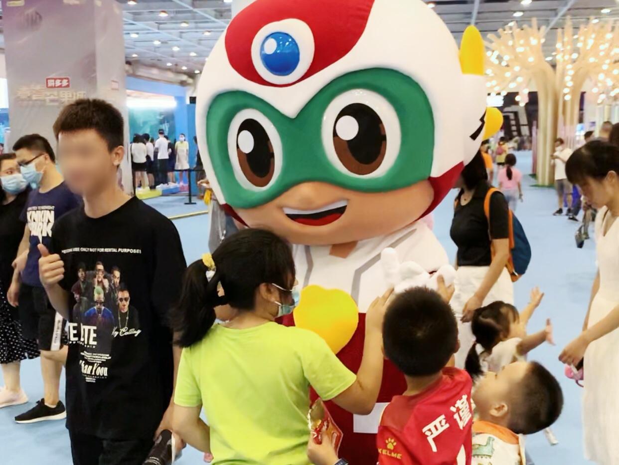 开心超人参展长沙青春芒果节,火爆互动打卡区吸粉无数