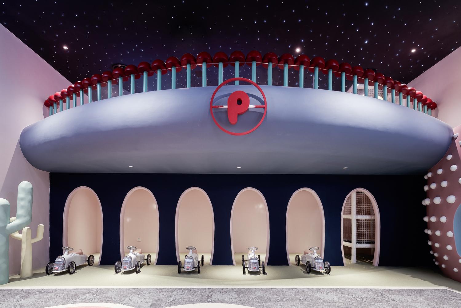 杭州星光奈尔宝家庭中心设计,隐藏在亲子互动间的跳色美学