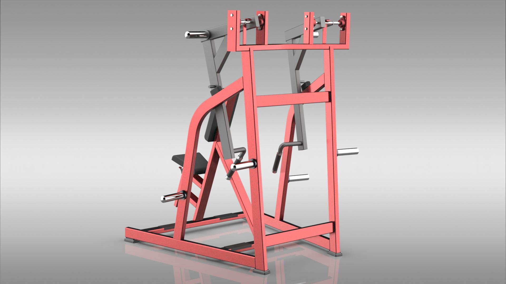 let row健身设备3D数模图纸 STEP格式