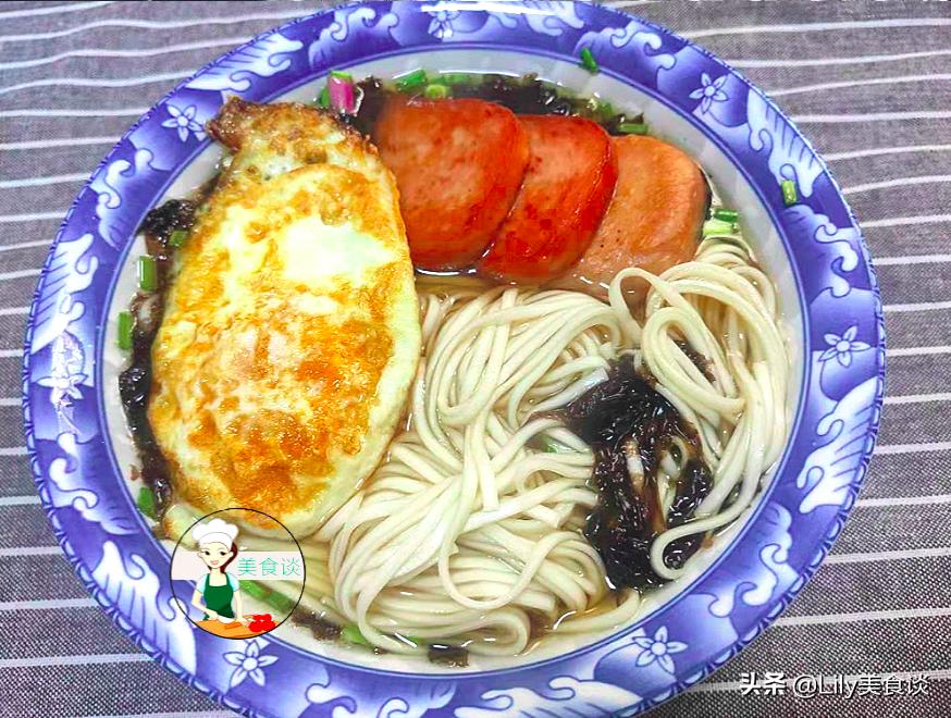 紫菜清汤面做法步骤图 早餐吃它营养耐饿