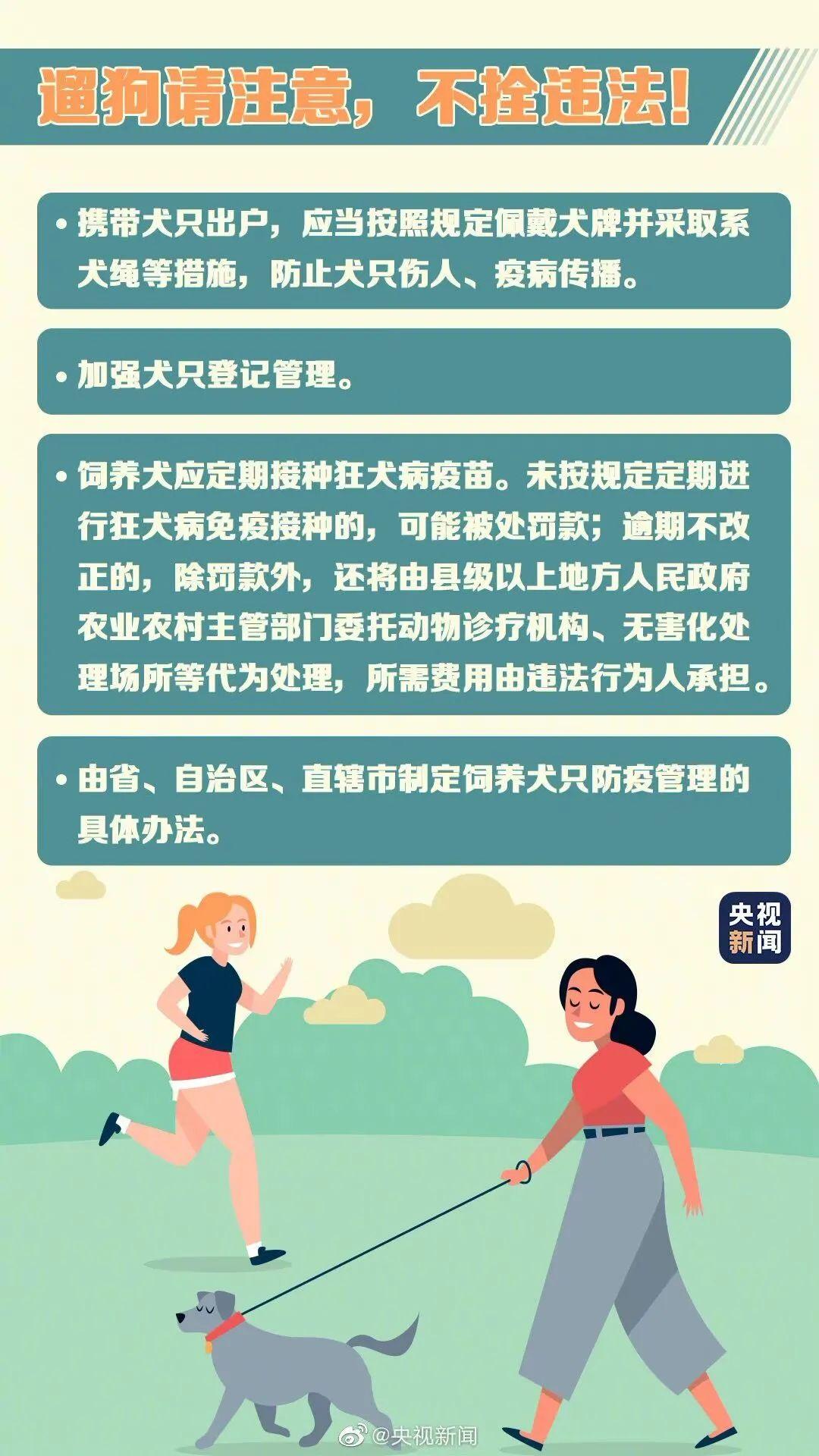 下周上班时间有变化!5月1日起,遛狗不拴绳违法!