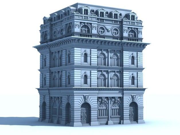 Victorian Office古代欧洲建筑物模型3D打印图纸 STL格式