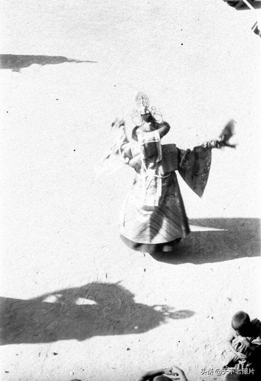1932年 甘肃夏河拉卜楞寺喇嘛祭祀仪式实拍