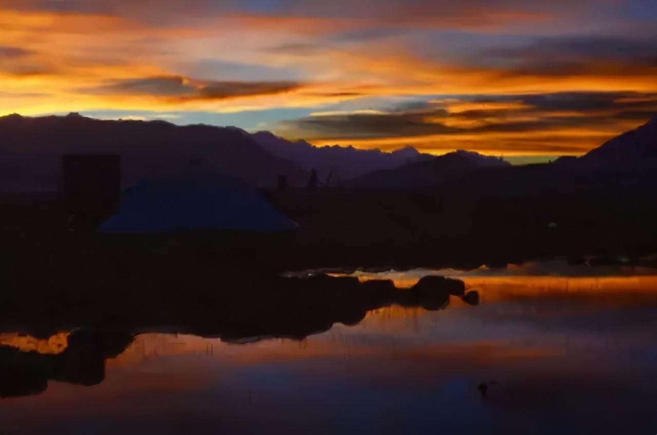 享受日喀则的清晨,也爱黄昏的那抹斜阳