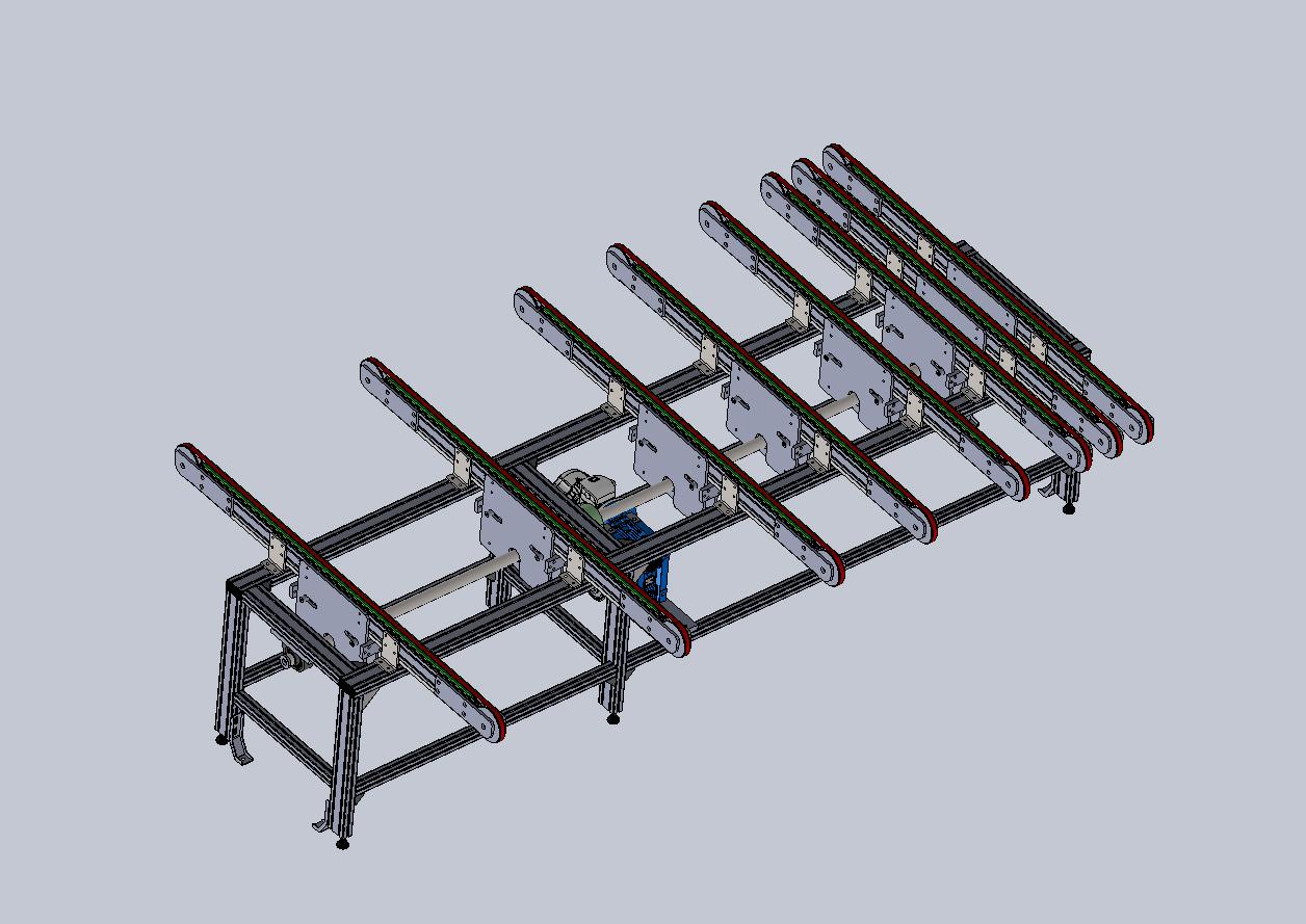 transport system 40200输送系统内部结构3D图纸 STEP格式