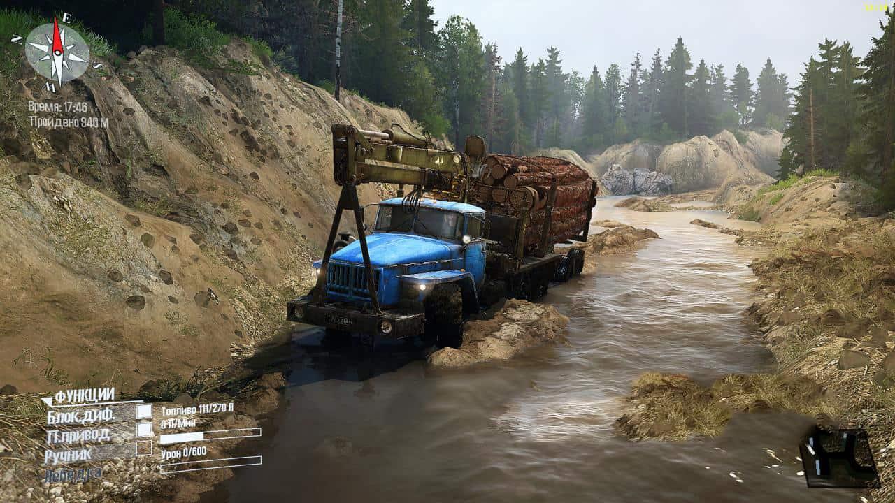 一款非常别致的大型卡车越野游戏