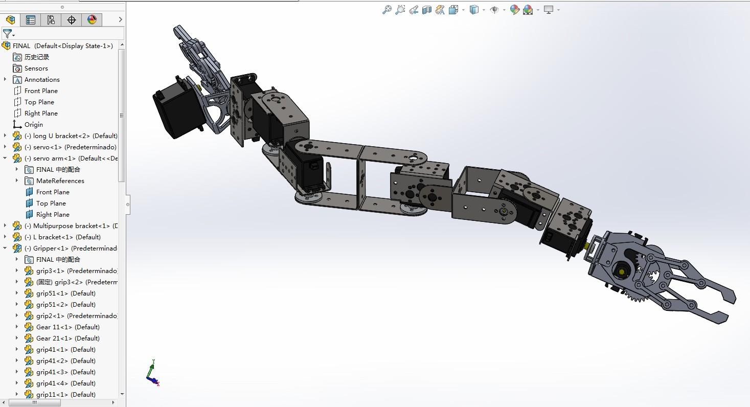 蛇形机器机械爪机械臂3D数模图纸 Solidworks设计
