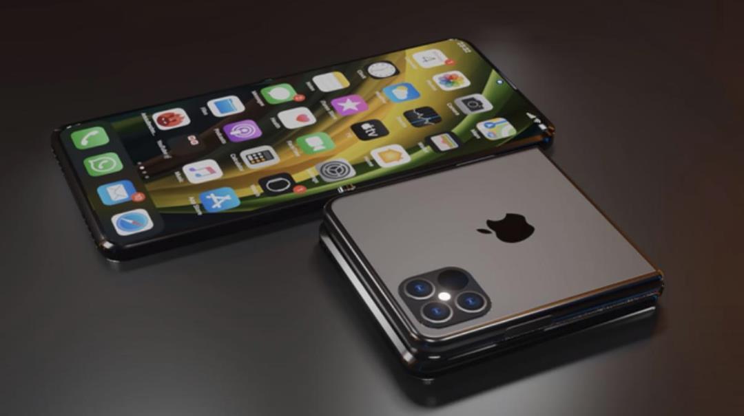 苹果+三星=?海外曝光iPhone Flip折叠屏手机渲染图