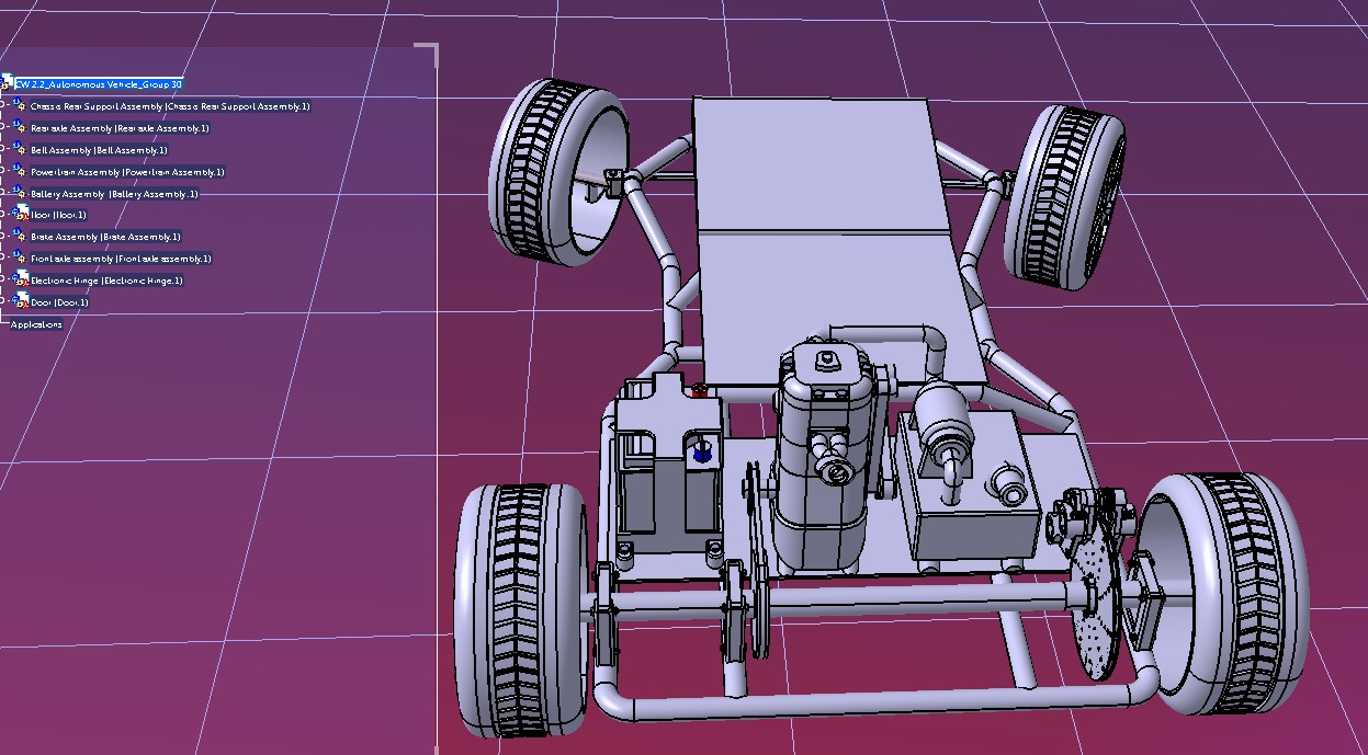 氢动力汽车底盘模型3D图纸 STP格式