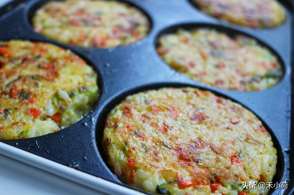 剩米饭换种做法,焦香美味,不早起,10分钟做好营养早餐