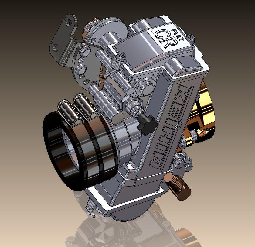 keihin fcr 41 ktm化油器3D数模图纸 STEP格式