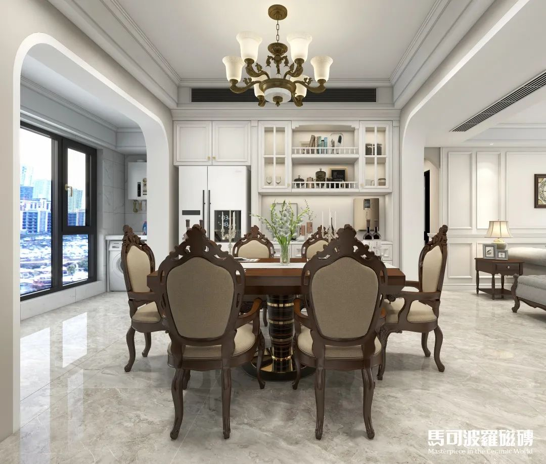 设计砖家 144m2现代美式风,马可波罗瓷砖给您一个温馨舒适的家