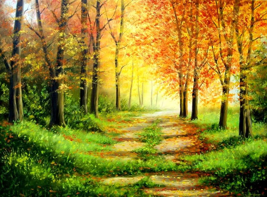 童话里才有的世界,他却用油笔画了出来,梦幻般的感觉