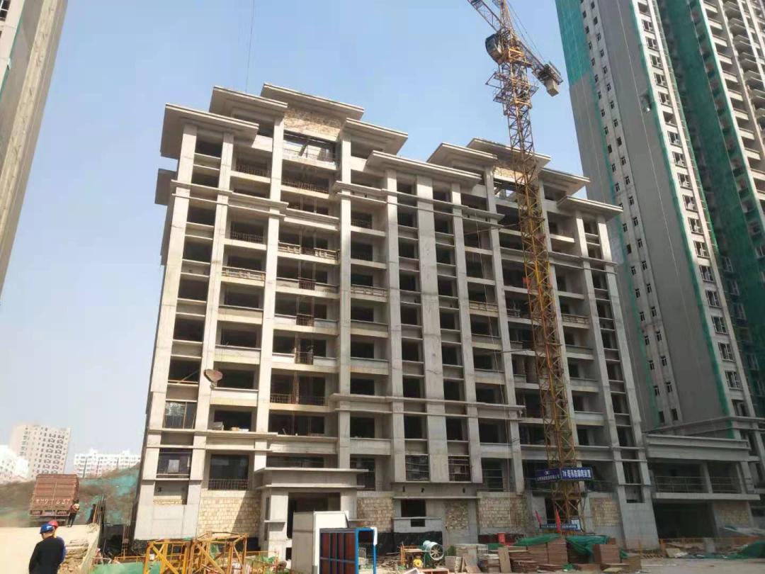 西建集团天茂房产运城开发项目工程进度