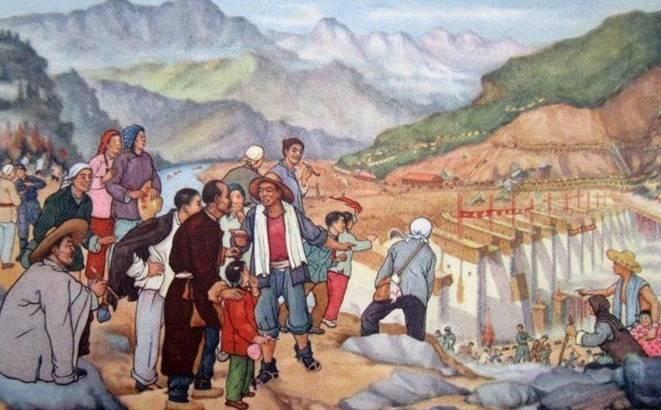 百年瞬间丨新中国第一坝的建成