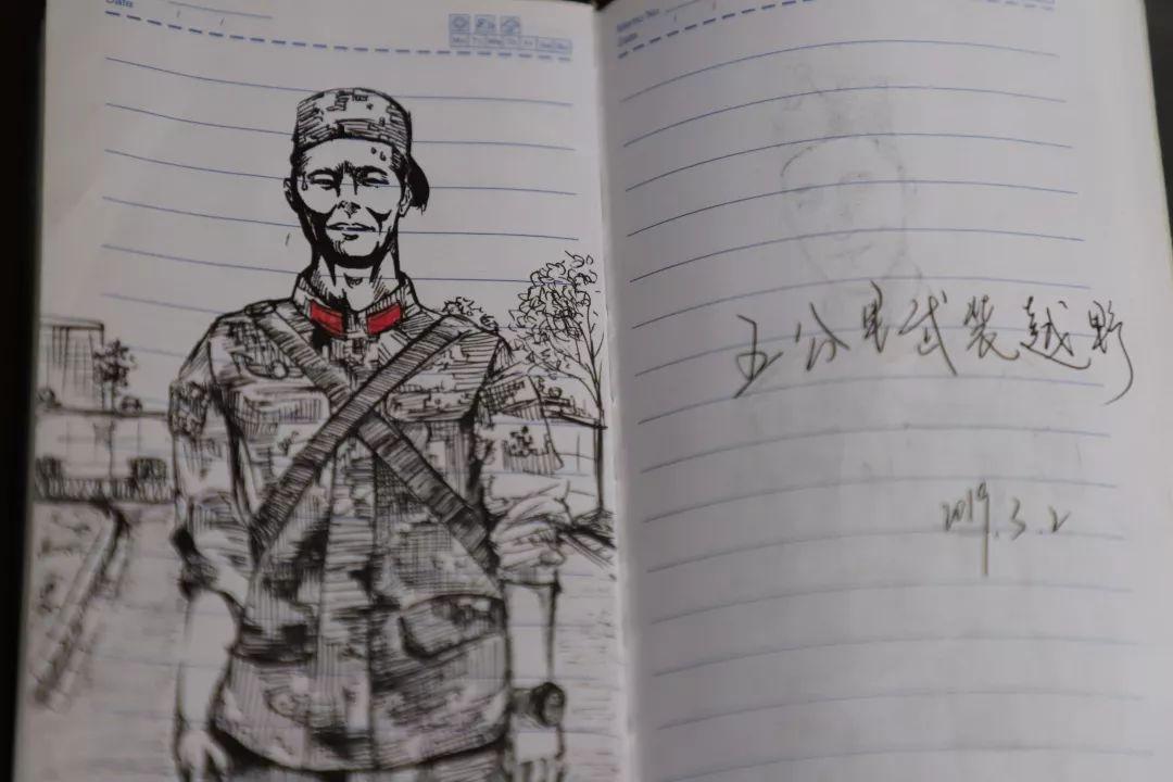 """这位""""00""""后兵哥哥用画来记录他的军旅生涯"""